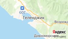 Гостиницы города Геленджик на карте