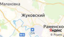Гостиницы города Жуковский на карте