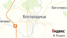 Гостиницы города Богородицк на карте