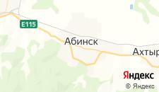 Гостиницы города Абинск на карте