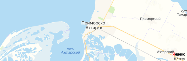 Приморско-Ахтарск на карте