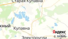 Гостиницы города Кудиново на карте
