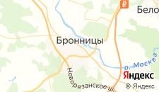 Гостиницы города Бронницы на карте