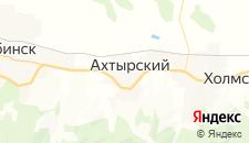 Гостиницы города Ахтырский на карте
