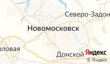 Гостиницы города Новомосковск на карте