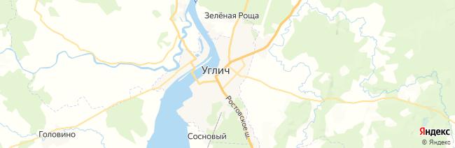 Углич на карте