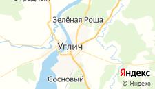 Гостиницы города Углич на карте