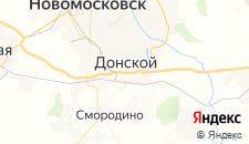 Гостиницы города Донской на карте