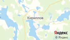 Гостиницы города Кириллов на карте