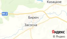 Гостиницы города Бирюч на карте