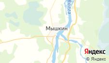 Гостиницы города Мышкин на карте