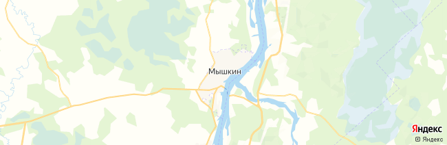 Мышкин на карте