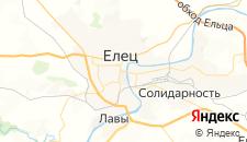 Гостиницы города Елец на карте