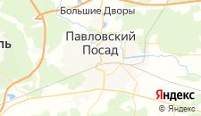 Гостиницы города Павловский Посад на карте