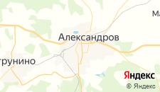 Гостиницы города Александров на карте