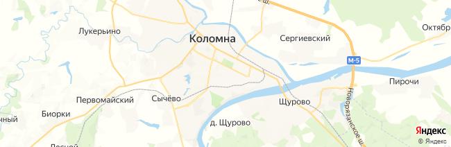 Коломна на карте