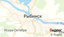 Гостиницы города Рыбинск на карте