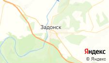 Гостиницы города Задонск на карте