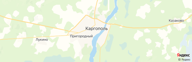 Каргополь на карте