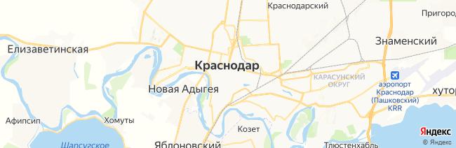 Краснодар на карте