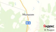 Гостиницы города Молькино на карте