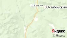 Гостиницы города Горный на карте