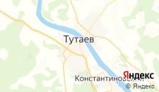 Гостиницы города Тутаев на карте