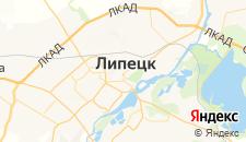 Гостиницы города Липецк на карте