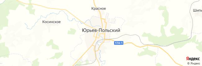 Юрьев-Польский на карте