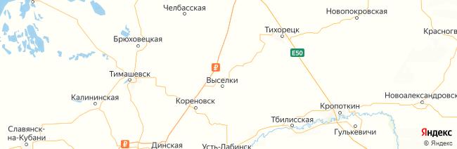 Краснодарский край на карте
