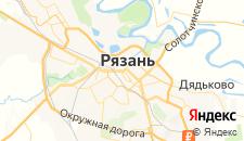 Гостиницы города Рязань на карте