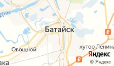 Гостиницы города Батайск на карте