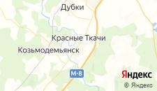 Гостиницы города Красные Ткачи на карте