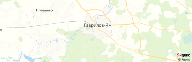 Гаврилов-Ям на карте