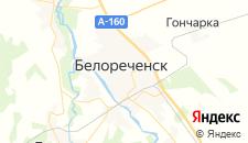 Гостиницы города Белореченск на карте