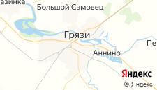 Гостиницы города Грязи на карте