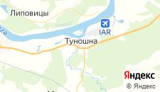 Гостиницы города Туношна на карте