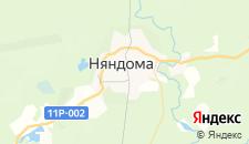Гостиницы города Няндома на карте