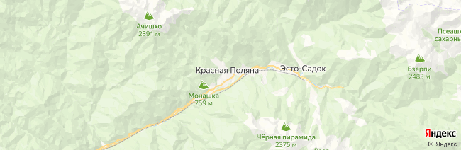 Красная Поляна на карте