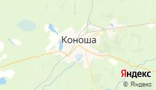 Гостиницы города Коноша на карте