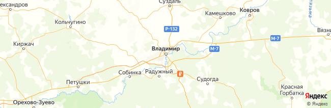 Владимирская область на карте