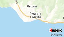 Гостиницы города Гудаута на карте