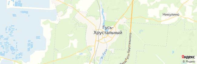 Гусь-Хрустальный на карте