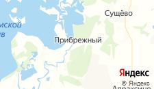 Гостиницы города Прибрежный на карте