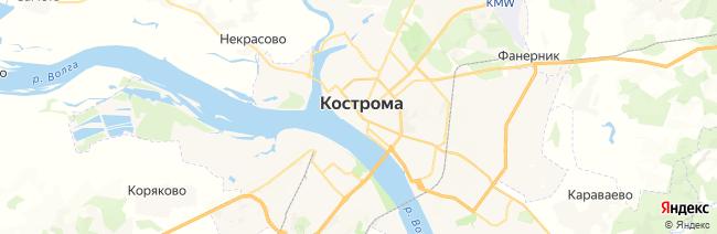 Кострома на карте