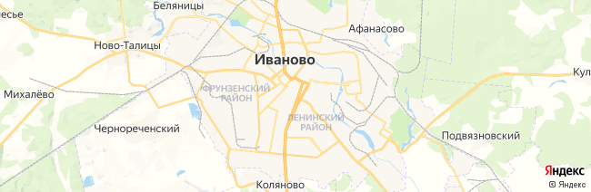 Иваново на карте