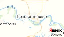 Гостиницы города Константиновск на карте