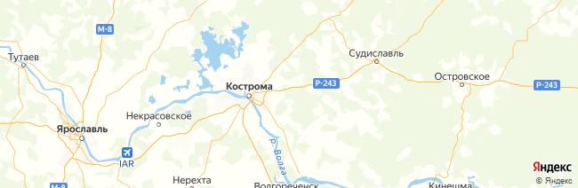 Костромская область на карте