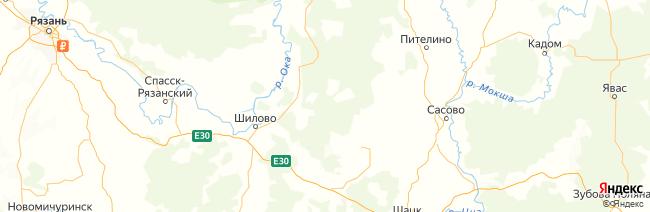 Рязанская область на карте
