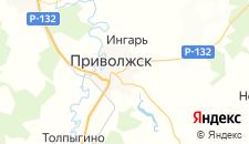Гостиницы города Приволжск на карте
